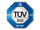 TÜV certified quality management according to ISO 9001:2015